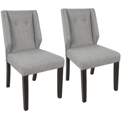 Gonzalo Side Chair Upholstery: Light Gray