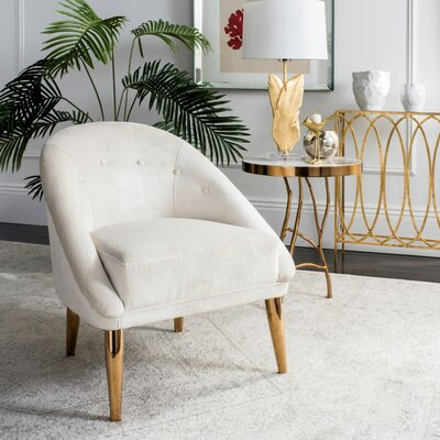 Priya Barrel Chair Upholstery: Bella White