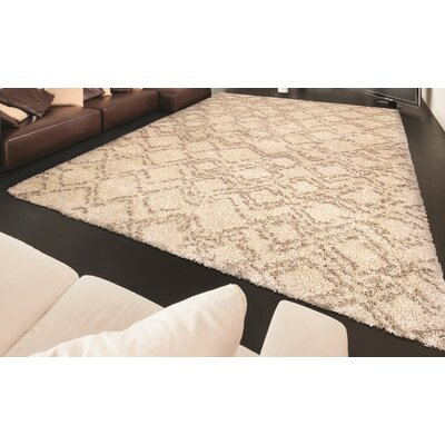 Arona Ivory Area Rug Rug Size: Rectangle 53 x 76