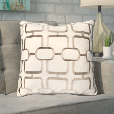 Herring Throw Pillow Color: Brown