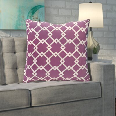 Byfield Geometric Euro Pillow Color: Sugarplum