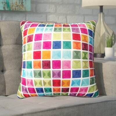 Linville Tile Cotton Throw Pillow