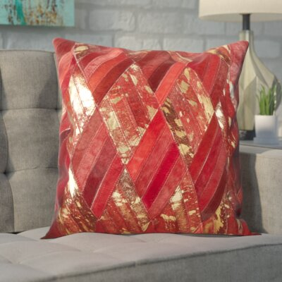 Linney Basket Weave Natural Hide Throw Pillow