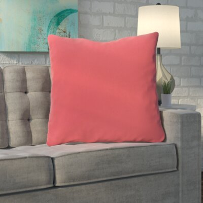 Merauke Throw Pillow Color: Coral