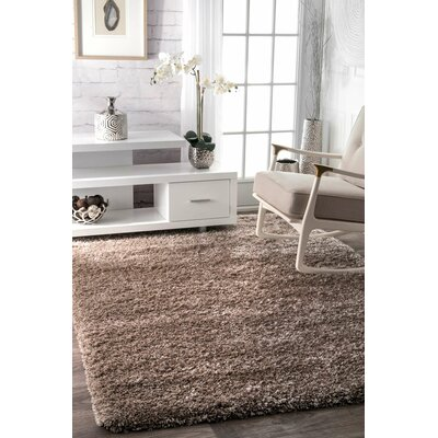 Lippert Taupe Area Rug Rug Size: Rectangle 53 x 77