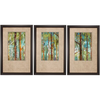 3-Piece Woodland Framed Painting Print Set