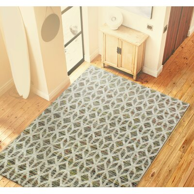 Hayhurst Hand-Woven Grey Area Rug Rug Size: 59 x 89