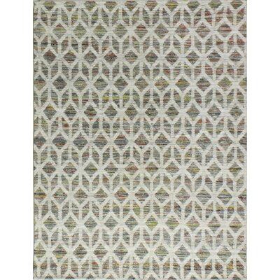 Hayhurst Hand-Woven Grey Area Rug Rug Size: 76 x 96