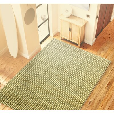 Herron Hand-Knotted Cream/Grey Area Rug Rug Size: 76 x 96
