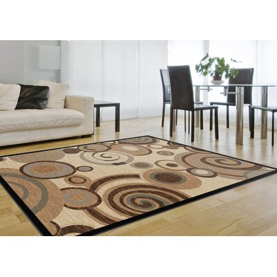 Hartle Beige Area Rug Rug Size: Rectangle 53 x 73
