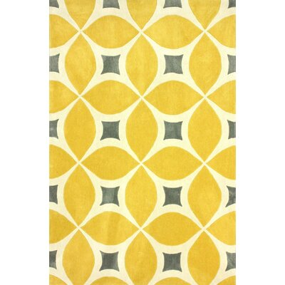 Sorrento Sunflower Gabriela Area Rug Rug Size: 76 x 96