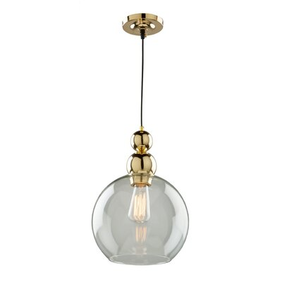 Delucia 1-Light Globe Mini Pendant Size: 16 H x 10 W