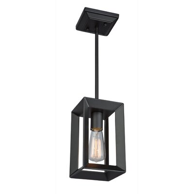 Haught 1-Light Mini Pendant Finish: Matte Black