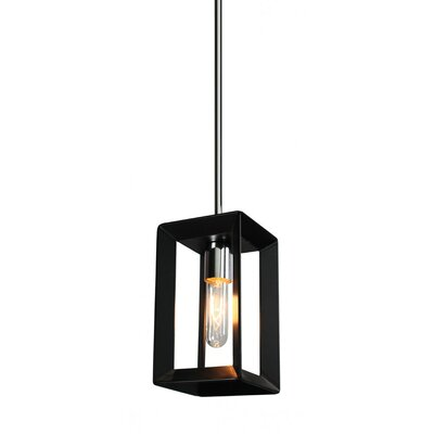 Haught 1-Light Mini Pendant Finish: Black/Chrome