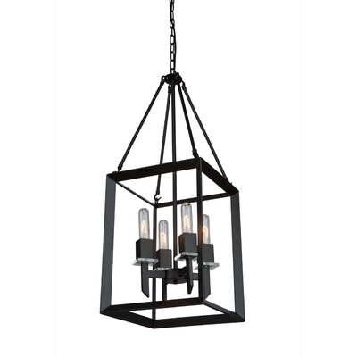 Haught 4-Light Candle-Style Chandelier Finish: Matte Black
