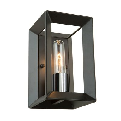 Haught 1-Light Flush Mount Finish: Black/Chrome