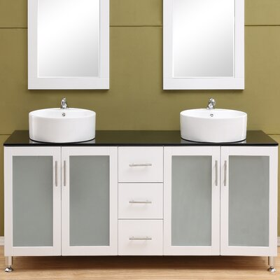 Fraher 60 Double Bathroom Vanity Set Base Finish: White