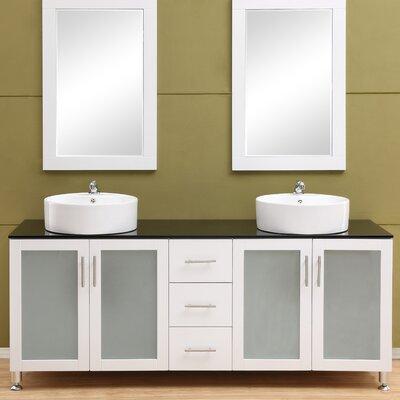 Fraher 72 Double Bathroom Vanity Set Base Finish: White