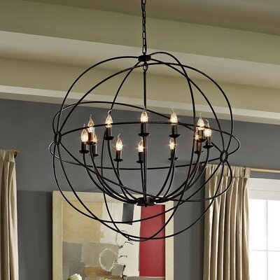 Geyer 12-Light Candle-Style Chandelier