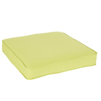 Kaplan Stemmons Pear Green Outdoor Square Chair Cushion Size: 19 H x 19 W x 3 D