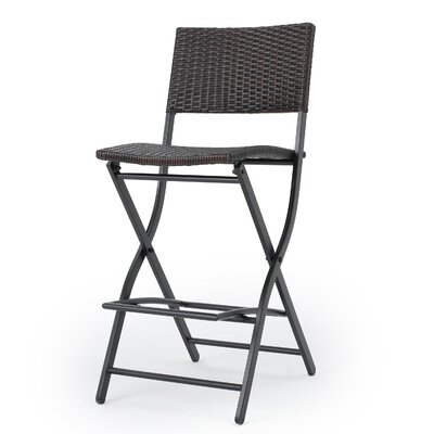 Deston Outdoor Wicker 28 Bar Stool