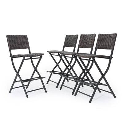 Hickerson Outdoor Wicker 28 Bar Stool