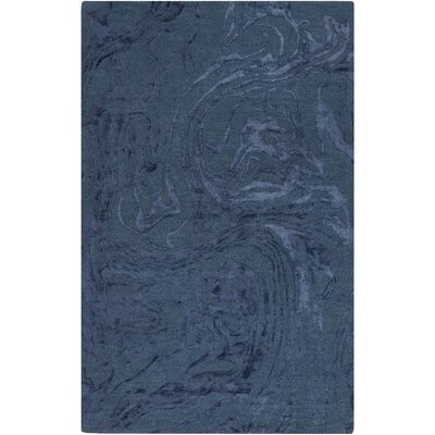 Kymani Hand-Tufted Dark Blue Area Rug Rug size: 2 x 3