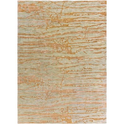 Kymani Gold/Soft Sage Area Rug Rug Size: 8 x 11