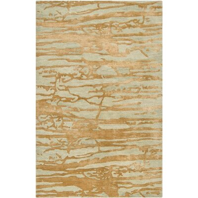 Kymani Gold/Soft Sage Area Rug Rug Size: Rectangle 5 x 8