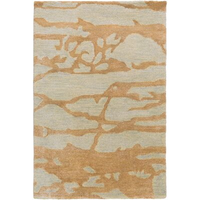 Kymani Gold/Soft Sage Area Rug Rug Size: 2 x 3