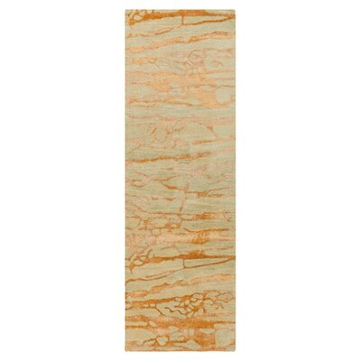 Kymani Gold/Soft Sage Area Rug Rug Size: Runner 26 x 8