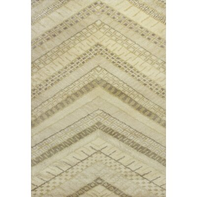 Haupt Cream Chevron Area Rug Rug Size: Rectangle 5 x 76