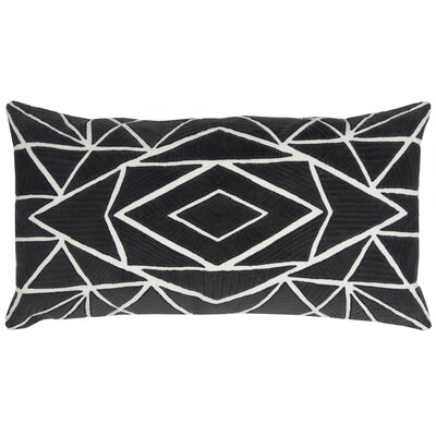 Hauge Cotton Pillow Cover Color: Black