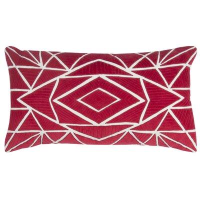 Hauge Cotton Pillow Cover Color: Red