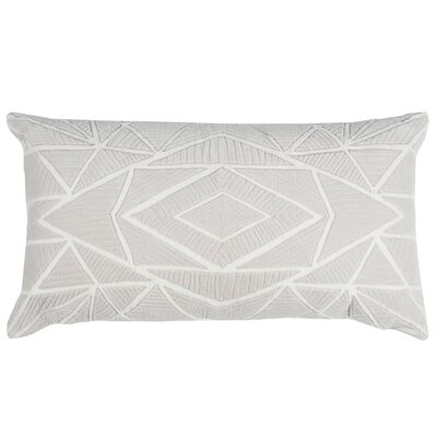 Hauge Cotton Lumbar Pillow Color: Stone