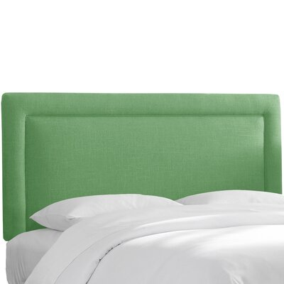 Hille Linen Upholstered Panel Headboard Size: Twin, Upholstery: Kelly Green