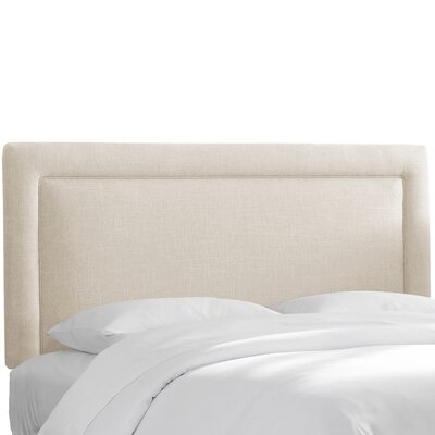 Hille Linen Upholstered Panel Headboard Size: California King, Upholstery: Talc