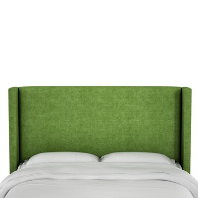 Hilley Linen Upholstered Wingback Headboard Size: Queen, Upholstery: Kelly Green