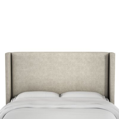 Hilley Linen Upholstered Wingback Headboard Size: California King, Upholstery: Talc