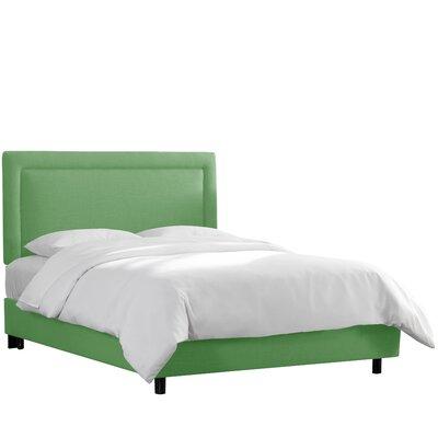Hillier Border Linen Upholstered Panel Bed Size: California King, Color: Kelly Green