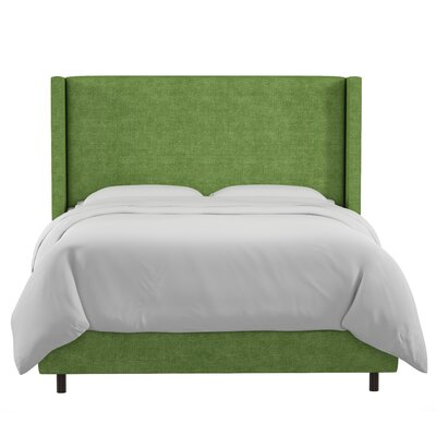 Sanford Linen Upholstered Panel Bed Size: King, Color: Kelly Green