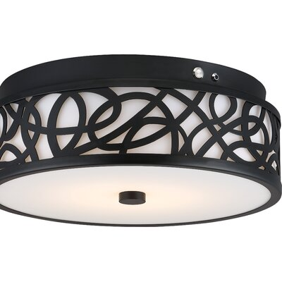 Guynn 1-Light LED Flush Mount Finish: Aged Bronze