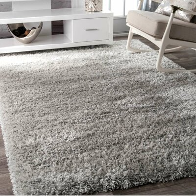 Lippert Gray Area Rug Rug Size: Rectangle 92 x 12