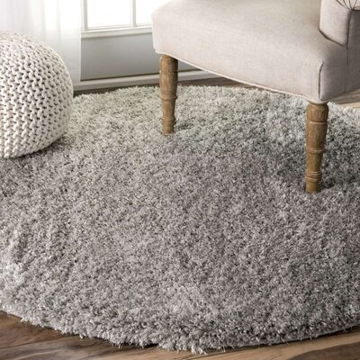 Lippert Gray Area Rug Rug Size: Round 53