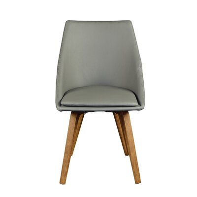 Flatiron Side Chair (Set of 2) Upholstery Type: Leatherette, Color: Grey