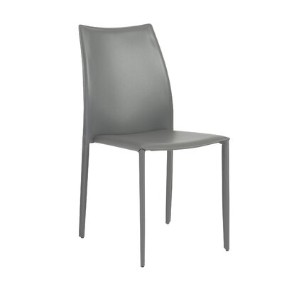 Jaymie Upholstered Dining Chair Color: Grey