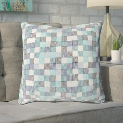 Cevenola Cotton Throw Pillow Color: Blue