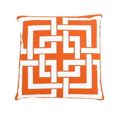 Peluso Geometric 100% Cotton Throw Pillow Color: Orange