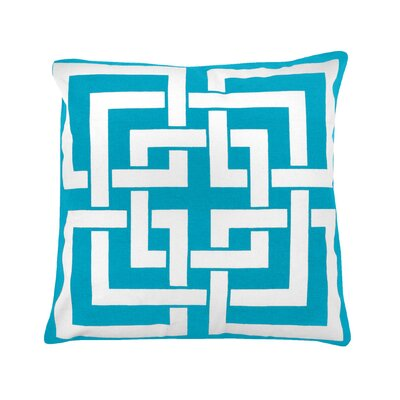 Peluso Geometric 100% Cotton Throw Pillow Color: Baby Blue