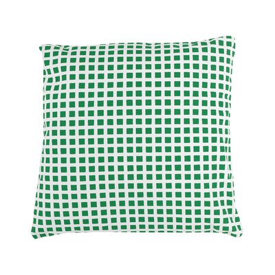 Pelzer Squares 100% Cotton Throw Pillow Color: Green